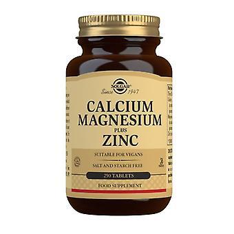 Solgar Calcium Magnesium plus Zinc Tablets 250 (521)