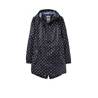 Joules Golightly Womens Packaway Waterproof Jacket - Navy Blue Spot