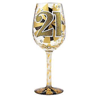 Lolita 21st Birthday Wine Glass