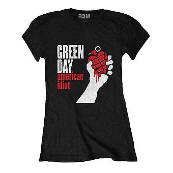 Women's Green Day American Idiot Black Fitted T-Shirt