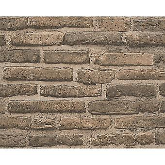A.S. Creation AS Creation House Brick Pattern Wallpaper Faux Effect Realistic Stone Embossed 307472