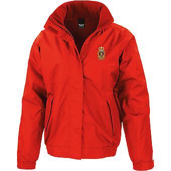 Royal Army Ordnance Corps-licenseret British Army broderet vandtæt jakke med fleece indre