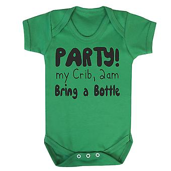 Party at my crib 2am babygrow