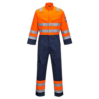 Portwest modaflame ris navy / orange coverall mv29