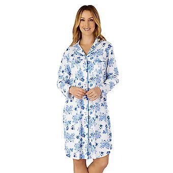 Slenderella NS4202 Women ' s vävd blommig bomulls nattskjorta