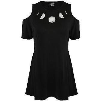 Restyle Moon Phases Cold Shoulder Dress
