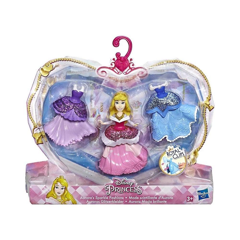 Disney Princess Aurora ' s Sparkle Fashions Royal clips docka Playset