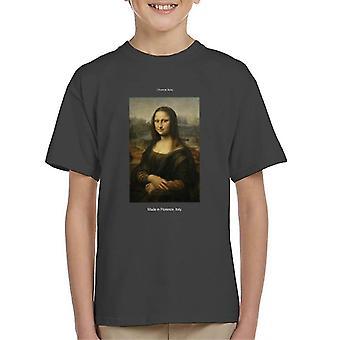 A.P.O.H Da Vinci Mona Lisa Made In Florence Italy Kid's T-Shirt