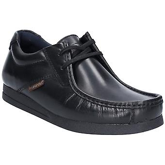 Base London Mens Event Waxy Lace Up Cuir Chaussures intelligentes
