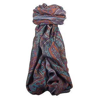 Mens Jamawar Premium Silk Scarf Pattern 8539 by Pashmina & Silk