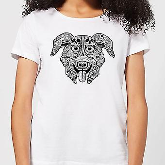 Mr Pickles Pattern Face Women-apos;s T-Shirt - Blanc