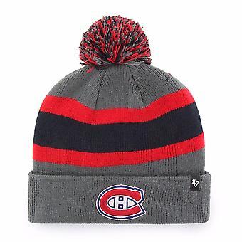 47 Marke Nhl Montreal Canadiens Kohle Brechen Manschette Beanie stricken