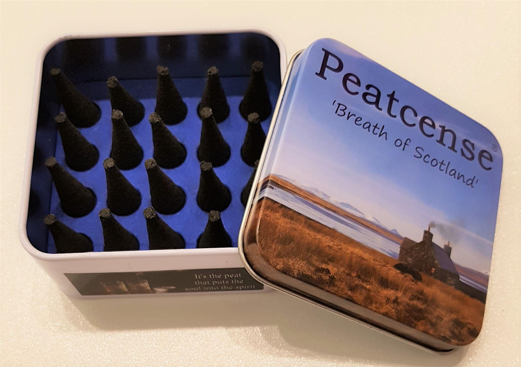 Peatcense Incense Cones and Slate Holder