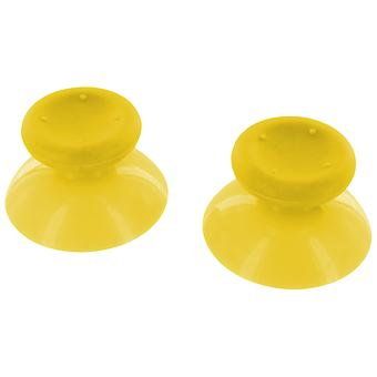 Concave analog thumbsticks grip sticks for microsoft xbox 360 controllers - 2 pack yellow