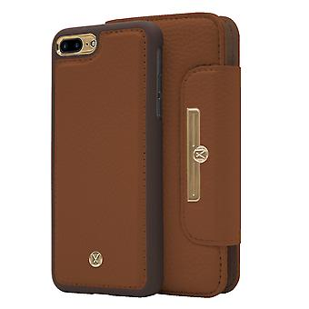 Marvêlle iPhone 7/8 Plus Magnetic Case & Wallet Light Brown Chic