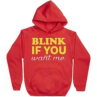 Blink If You Want Me - Hoodie Homme