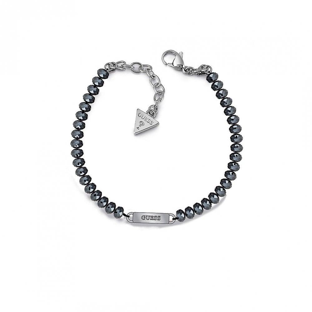 Guess Jewellery Guess Midnight Blue Rhodium Plated Logo Bracelet UBB28042-L