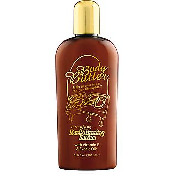 Body Butter Intensifying Dark Tanning Lotion Healthy Golden Brown Glow - 180ml