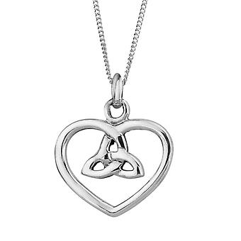 Celtic Holy Trinity Cuore Collana Ciondolo - Include 20&&quot catena;