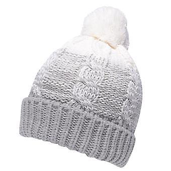 Gelert Womens TeddyPom Beanie Ladies Warm Winter Hat