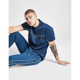 Nieuwe McKenzie mannen ' s essentiële poly korte mouw T-shirt blauw