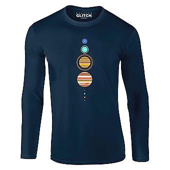 Men's simple solar system long sleeve t-shirt