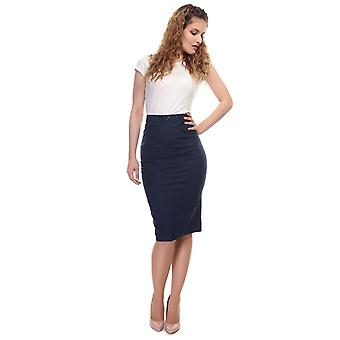 Collectif Vintage Women's Fitted Talis Plain Pencil Skirt