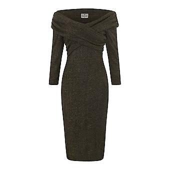 Collectif Vintage vrouwen ' s Hollie Lurex wiggle potlood jurk