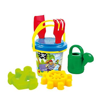Mochtoys Sand Toy Set10413 with Bucket, Sand Molds, Sieve, Watering Can, Shovel