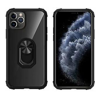 Takakannen rengas Omena iPhone 11 Pro (5,8) läpinäkyvä musta