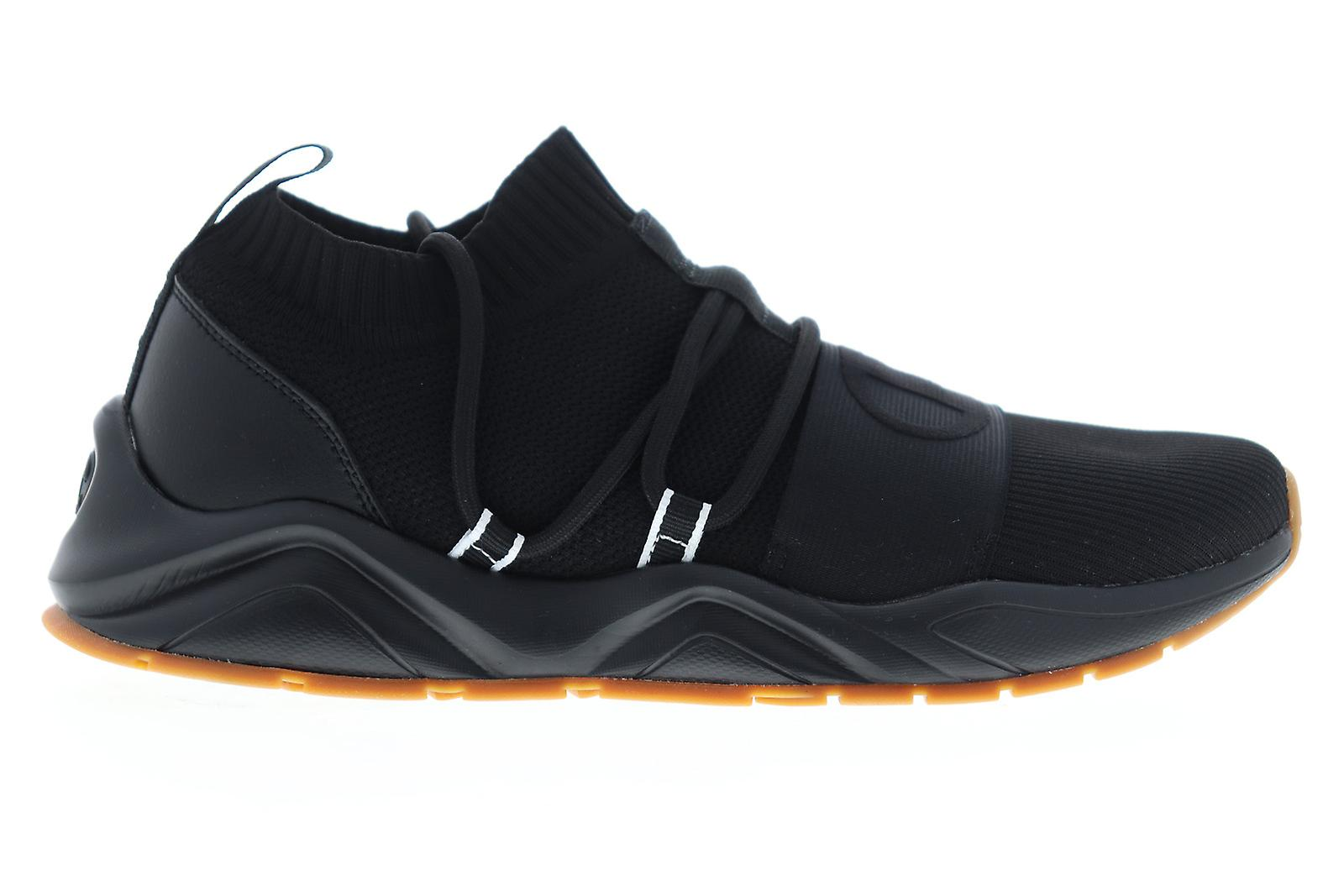 Campione Rally Hype LO Uomini Nero Canvas Low Top Sneakers Scarpe UxAkAz
