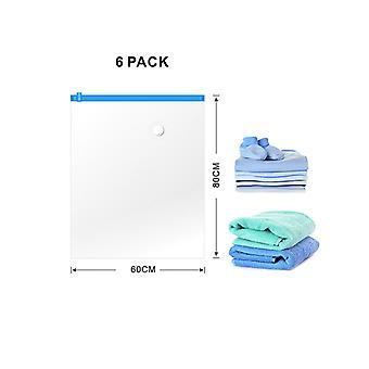 CM-564 Vacuum Bags Vacuum Storage Space Saver Borse per coperte di biancheria da letto di abbigliamento (6 confezioni. Medio)