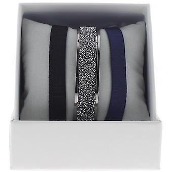Armband verwisselbaar A47067 - vak ring Ruthenium vrouw kristal Ribbon armband