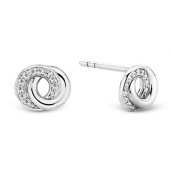 Øreringe Ti Sento 7784ZI - øreringe sølv ringe interlaced Sørensen