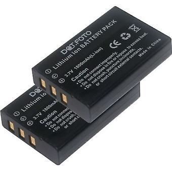 2 x batería de repuesto NP-120 Dot.Foto Praktica - 3.7v / 1800mAh