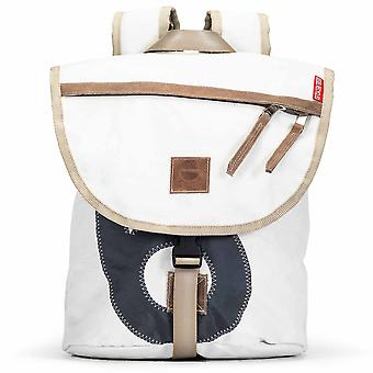 360 degree backpack Landgang mini white with number grey canvas bag
