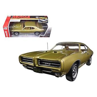 1969 Pontiac GTO Hardtop Antique Gold \Hemmings Muscle Magazine\ Limited Edition to 1002pc 1/18 Diecast Model Car by Autoworld