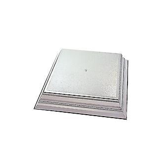 Culpitt fyrkantig plast kaka Stand-silver