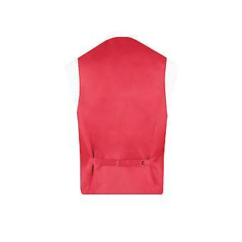 Liberty Mens 'Emma & Georgina' Red/Blue Floral Waistcoat Regular Fit 100% Cotton