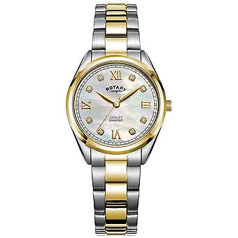 Rotary Women's Henley | Diamond Set Dial | Two-Tone Bracelet | LB05111/41/D Watch