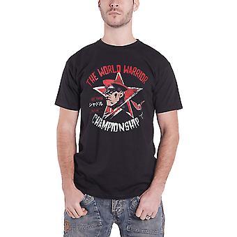 Street Fighter T Shirt World Warrior Championship M Bison Official Mens Black