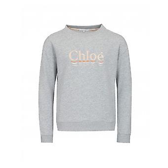 Chloe Odzież dziecięca haftowane logo Sweat