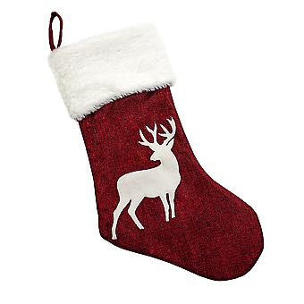 Christmas stocking with Reindeer Motifs