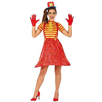 Womens Circus Clown Fancy Dress Costume