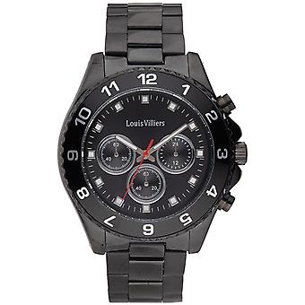 Louis Villiers Quartz Analog Man Watch with LVAG5877-13 Stainless Steel Bracelet