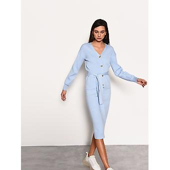 Light blue knitted cardigan
