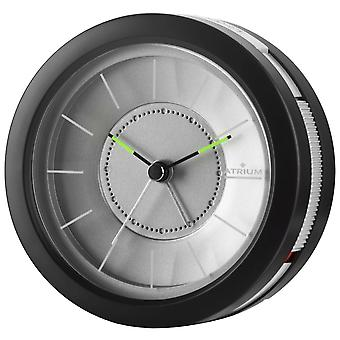 ATRIUM Alarm Clock Analog Quartz Design Alarm Clock A106-7 Light Snooze Black