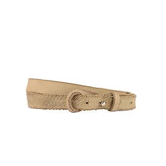 Ceinture en cuir étroit avec le sable grossier de lignes