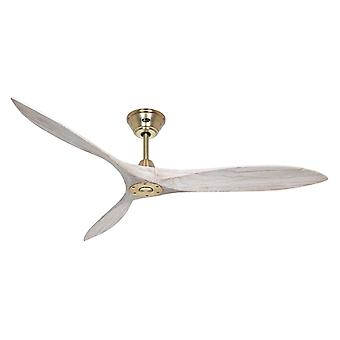DC Ceiling Fan Eco Airscrew Brass / Stained Wood