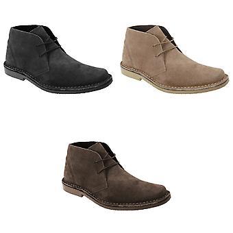 Roamingtaxorna Mens Real Suede Classic Desert Boots